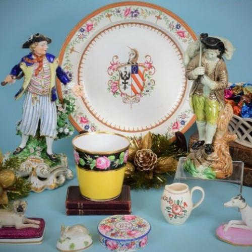 Antique English Pottery & Porcelain.