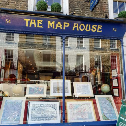 The Map House shop front, No. 54 Beauchamp Place