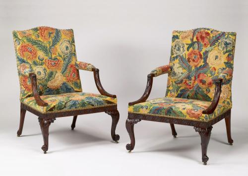 Chippendale Period Gainsborough armchairs