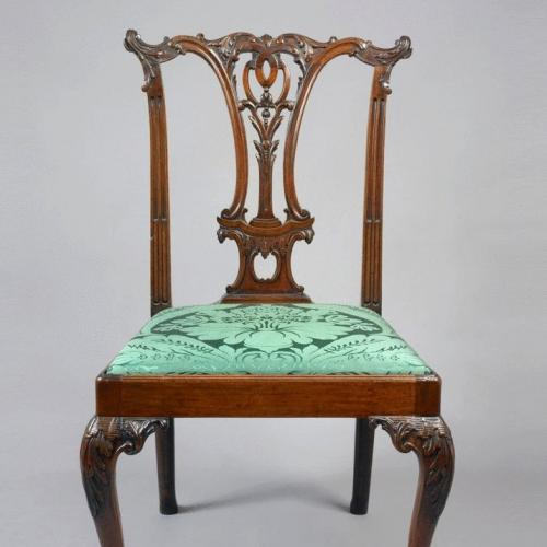A George III Mahogany Chippendale Period Side Chair
