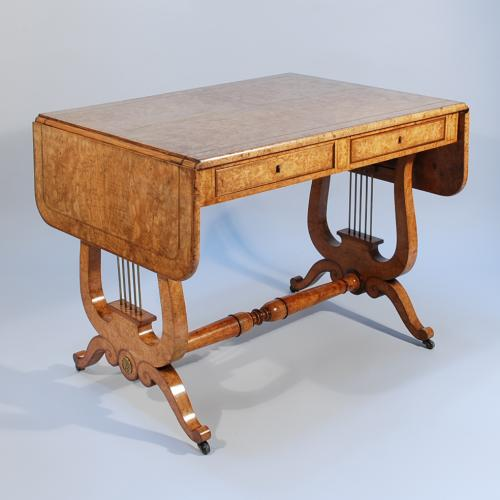 Early 19th Century Continental Wild Ash Sofa Table