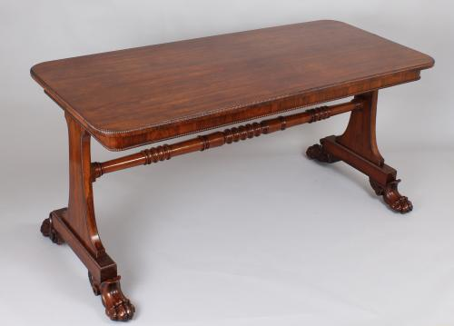 Rosewood library table of very high quality