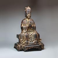 Chinese gilt-lacquer bronze figure of the Daoist deity Wenchang Wang