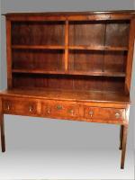 18th Century Elm Dresser and rack