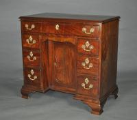 Georgian Mahogany Kneehole Desk