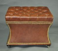 Leather Box Stool