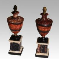 Pair of Derbyshire Blue John Urns
