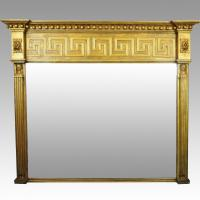Large Regency Overmantel/Overmantle Mirror