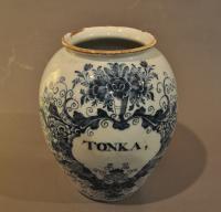 11 inch Delft Tobacco Jar 'Tonka'