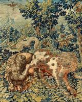 A 'Pugnae Ferarum' Tapestry, wool and silk, Flemish, probably Enghien, second half 16th century