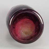 """Art Deco Cameo Glass Vase """"Dahlia"""" Vase by Le Verre Francais"""