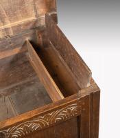 6649 Small Seventeenth Century Oak Coffer