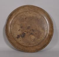S/3455 Antique Treen 18th Century Beech Serving Dish