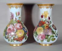 French Baccarat Opaline Crystal Large Vases by Jean-Francois Robert.
