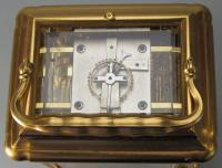 Drocourt Giant Grande-sonnerie carriage clock escapement