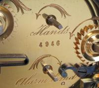 Soldano engraved gorge carriage clock arrow