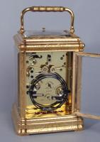 Soldano engraved gorge carriage clock backplate