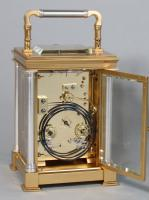 Delépine-Barrois striking carriage clock backplate