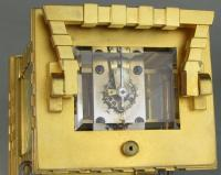 French porcelain dialled blockwork carriage clock escapement