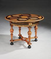 A late 19th century Baltic marquetry centre table