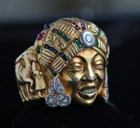 FRENCH MOROCCAN Fabulous Portrait Ring