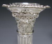A Pair of Victorian Sterling Silver Candlesticks