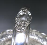 A George II Antique Silver Swing –Handled Basket
