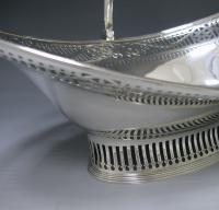 A George III Antique Silver Swing – Handled Basket
