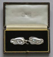 LIBERTY & CO (worked from c.1875) Art Nouveau 'Pea Pod' Cloak Clasp