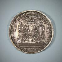 WILLIAM & MARY CORONATION MEDAL. London 1689.