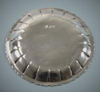 GEORGE III Sterling Silver Small Dish by James Warren. Dublin circa 1760