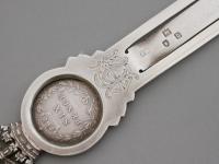 Queen Victoria Diamond Jubilee Commemorative Silver Bookmark