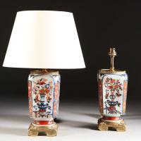A Pair of Imari Lamps with Gilt Bronze Mounts