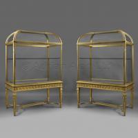 Pair of Giltwood Display Cabinets ©AdrianAlanLtd